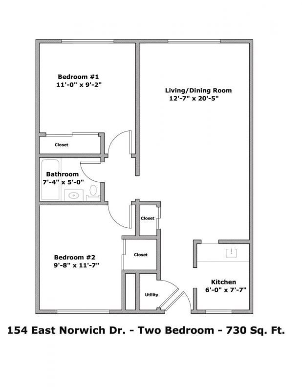 2 Bedrooms 1 Bathroom Apartment for rent at 154 E Norwich Ave in Columbus, OH