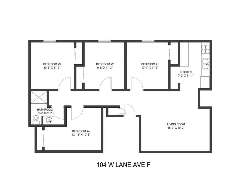 4 Bedrooms 1 Bathroom Apartment for rent at 104 W Lane Ave in Columbus, OH