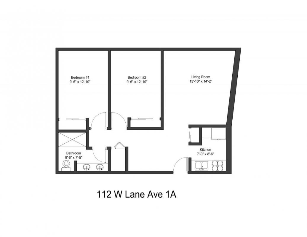 2 Bedrooms 1 Bathroom Apartment for rent at 112 W Lane Ave in Columbus, OH