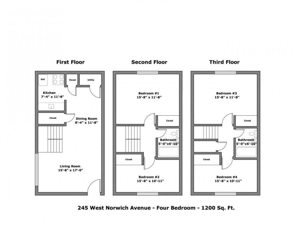 4 Bedrooms 2 Bathrooms Apartment for rent at 245 W Norwich Ave in Columbus, OH