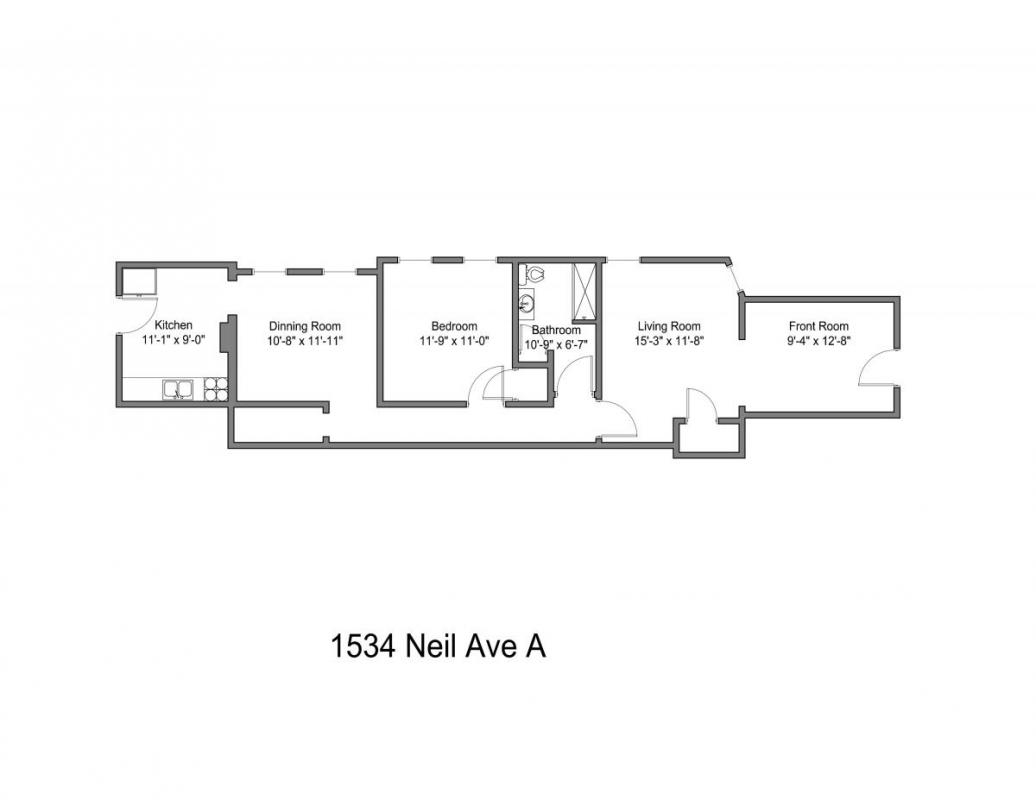 1 Bedroom 1 Bathroom Apartment for rent at 1534-1536 Neil Ave in Columbus, OH