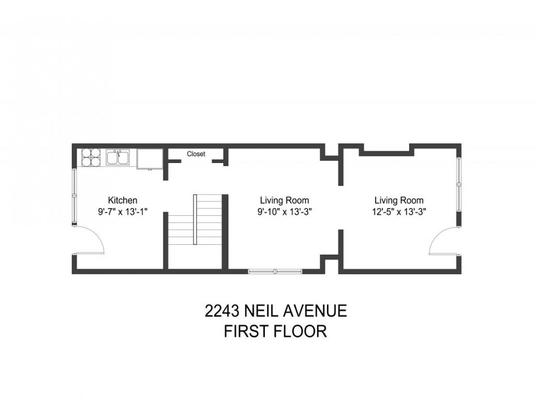3 Bedrooms 1 Bathroom Apartment for rent at 2243-2245 Neil Ave in Columbus, OH