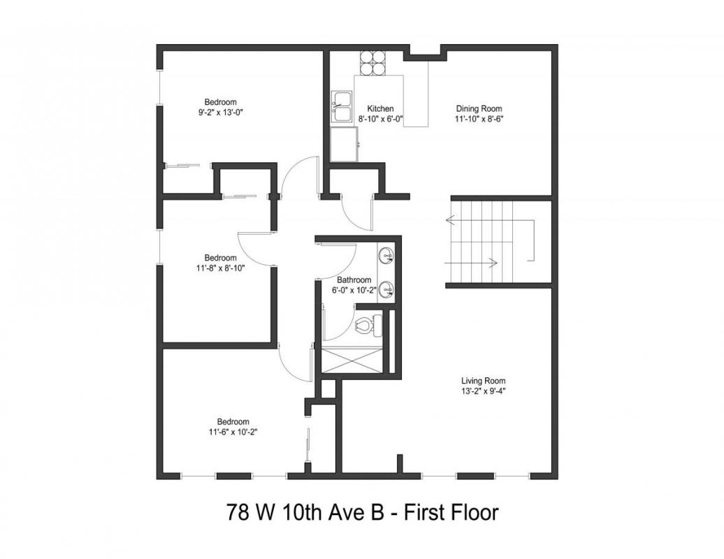 5 Bedrooms 2 Bathrooms Apartment for rent at 78 W 10th Ave in Columbus, OH