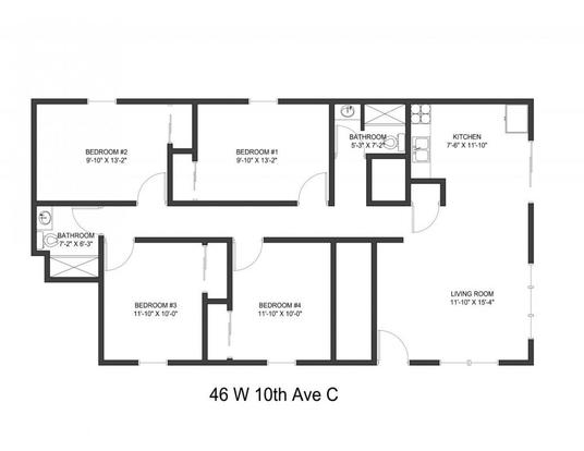 4 Bedrooms 2 Bathrooms Apartment for rent at 46 W 10th Ave in Columbus, OH