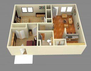 2 Bedrooms 1 Bathroom Apartment for rent at Mccarty Place Apartments in Lafayette, IN