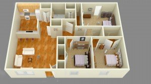 3 Bedrooms 1 Bathroom Apartment for rent at Mccarty Place Apartments in Lafayette, IN