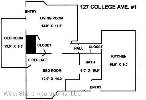2 Bedrooms 1 Bathroom Apartment for rent at 127 College Avenue in Ithaca, NY