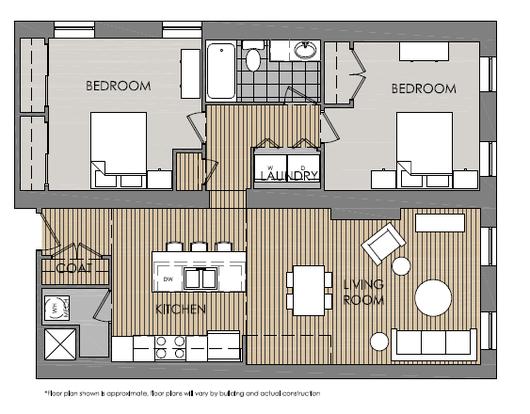 2 Bedrooms 2 Bathrooms Apartment for rent at Mercer Commons Apartments in Cincinnati, OH