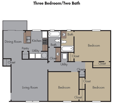 3 Bedrooms 2 Bathrooms Apartment for rent at The Terraces At Highbury Court in Atlanta, GA