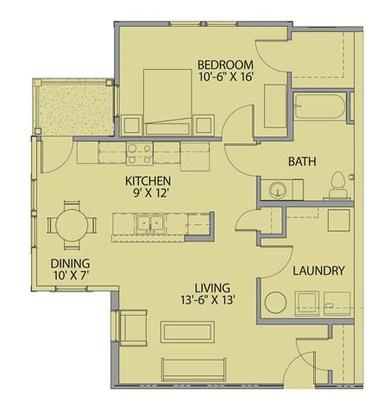 1 Bedroom 1 Bathroom Apartment for rent at The Loft At Southside in Durham, NC
