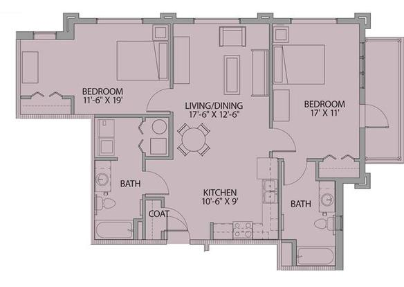 2 Bedrooms 1 Bathroom Apartment for rent at The Loft At Southside in Durham, NC