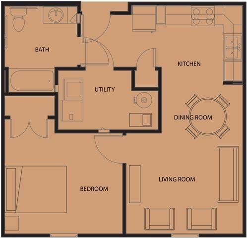 1 Bedroom 1 Bathroom Apartment for rent at Arlington Grove Apartments in St Louis, MO