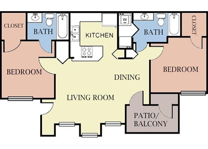 2 Bedrooms 2 Bathrooms Apartment for rent at Cambury Hills in Omaha, NE