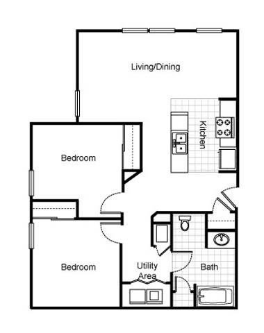 2 Bedrooms 1 Bathroom Apartment for rent at Jazz District Apartments in Kansas City, MO