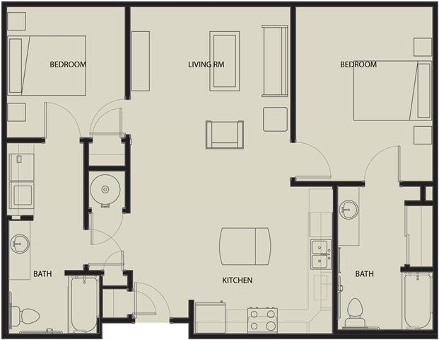 2 Bedrooms 2 Bathrooms Apartment for rent at North Sarah Apartments in St Louis, MO