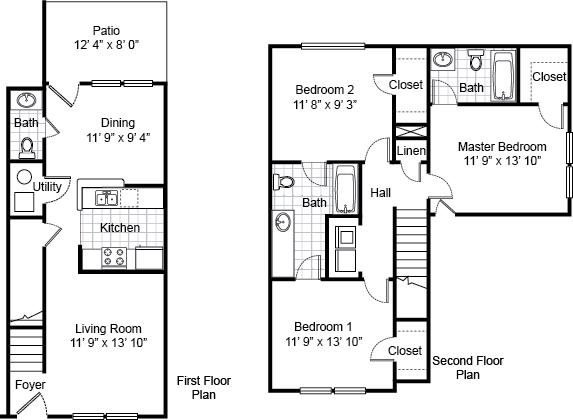 3 Bedrooms 2 Bathrooms Apartment for rent at Parsons Place Apartments in East St Louis, IL