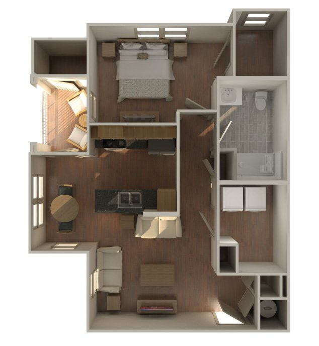 1 Bedroom 1 Bathroom Apartment for rent at The Lofts At Southside in Durham, NC