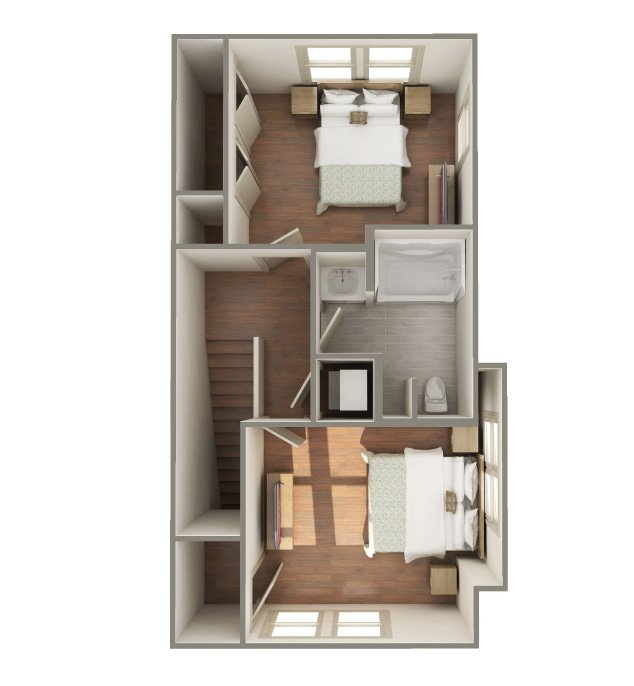 2 Bedrooms 1 Bathroom Apartment for rent at The Lofts At Southside in Durham, NC