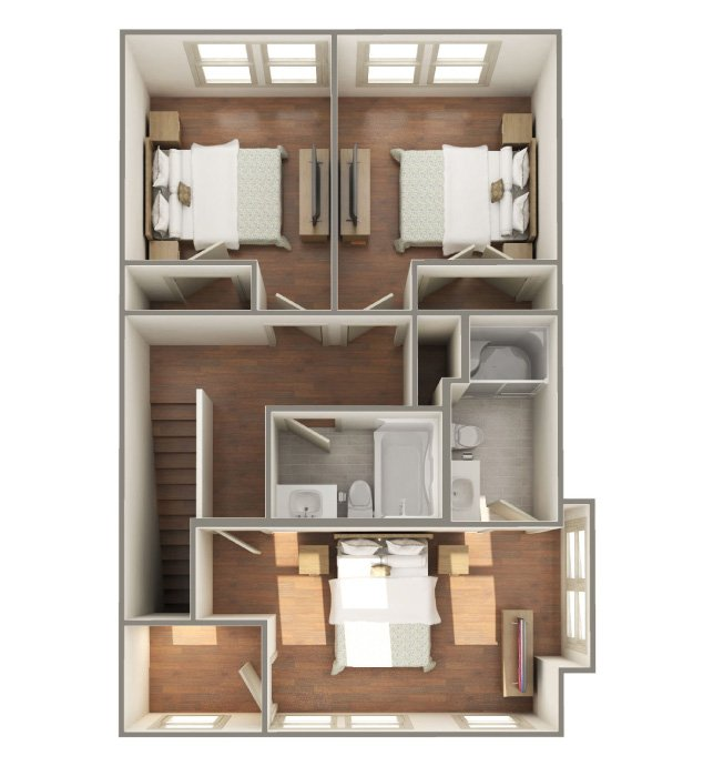3 Bedrooms 2 Bathrooms Apartment for rent at The Lofts At Southside in Durham, NC