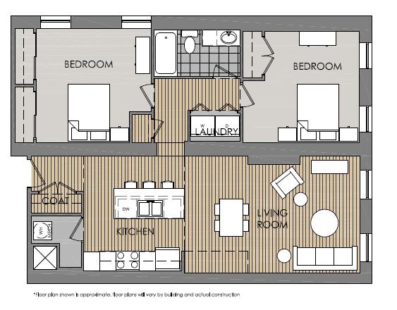 2 Bedrooms 1 Bathroom Apartment for rent at Mercer Commons Apartments in Cincinnati, OH