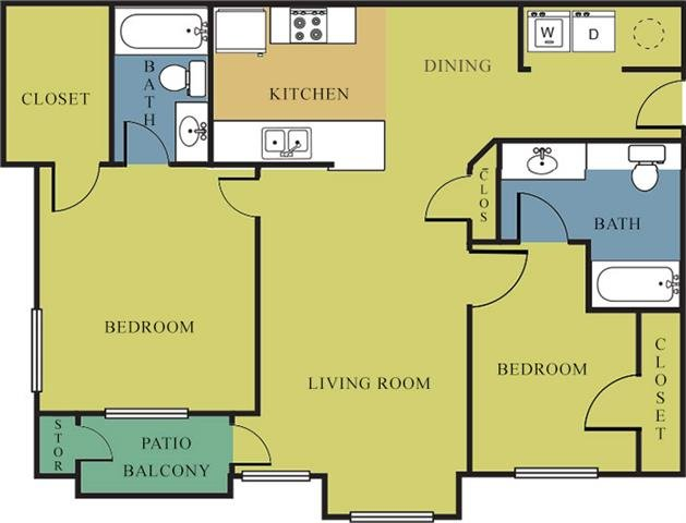 2 Bedrooms 2 Bathrooms Apartment for rent at Bridgeport Apartments in Lincoln, NE