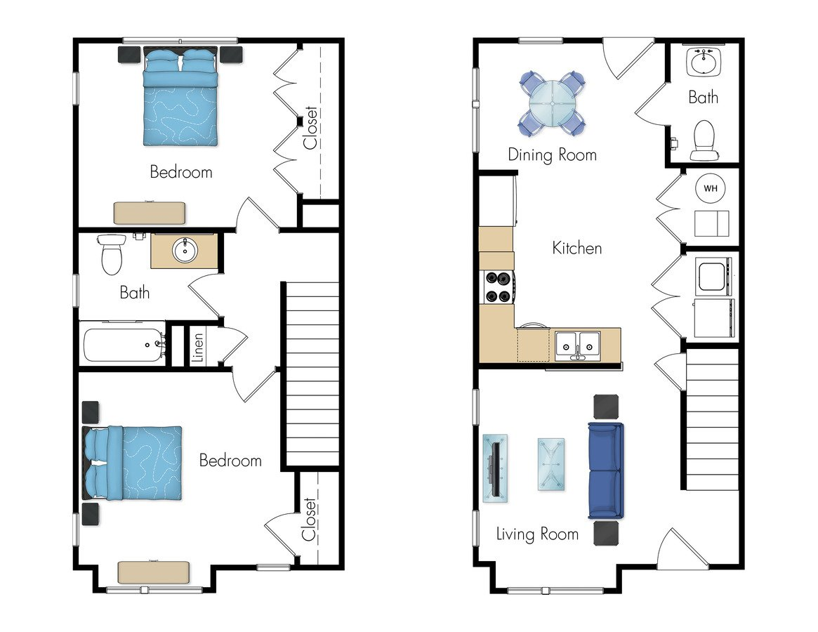 2 Bedrooms 1 Bathroom Apartment for rent at Legacy Pointe At Poindexter in Columbus, OH