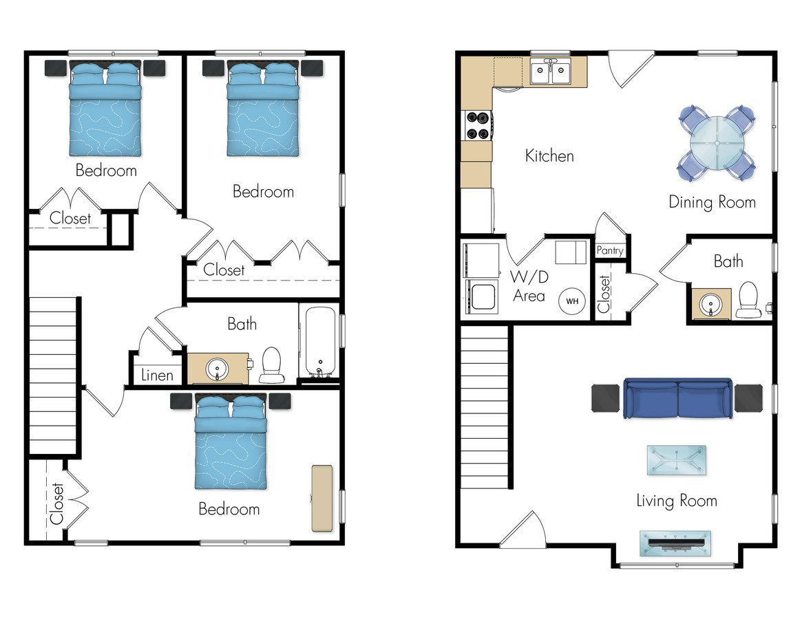 3 Bedrooms 1 Bathroom Apartment for rent at Legacy Pointe At Poindexter in Columbus, OH