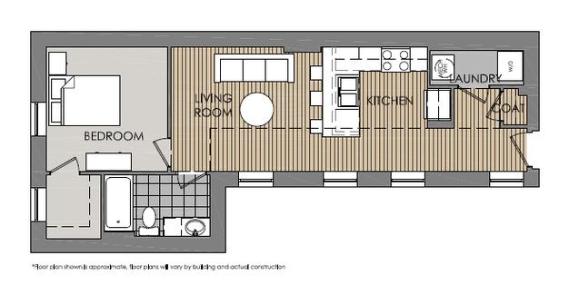 1 Bedroom 1 Bathroom Apartment for rent at Mercer Commons Apartments in Cincinnati, OH