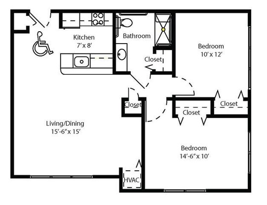 2 Bedrooms 1 Bathroom Apartment for rent at Cahill House Apartments in St Louis, MO