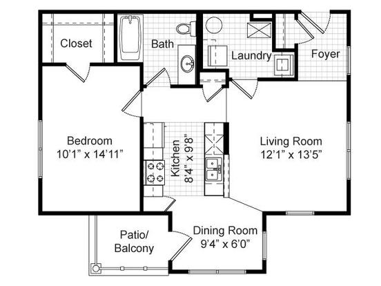 1 Bedroom 1 Bathroom Apartment for rent at Renaissance Place At Grand Apartments in St Louis, MO
