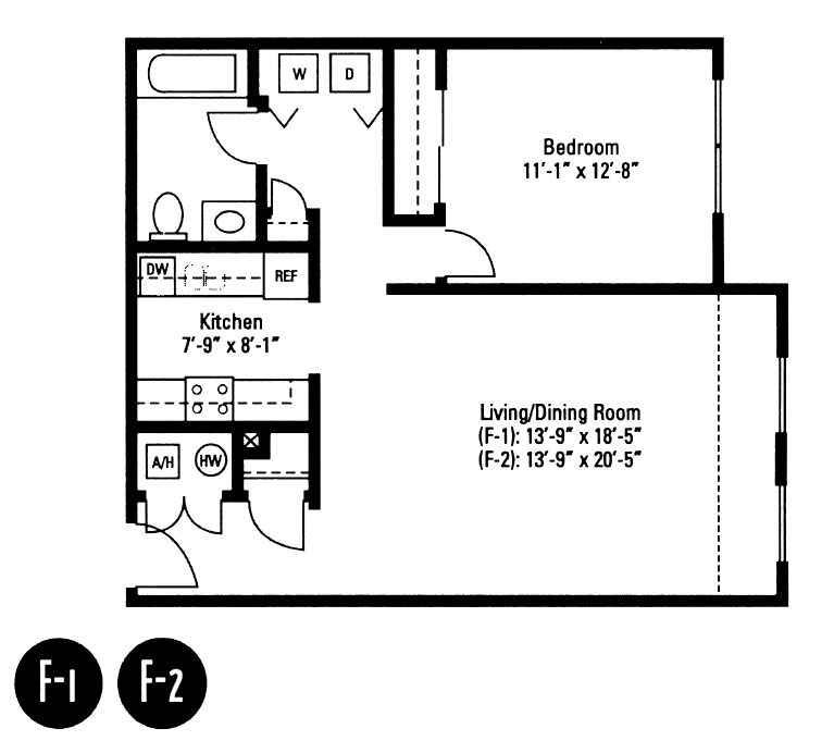 1 Bedroom 1 Bathroom Apartment for rent at Crawford Square Apartments in Pittsburgh, PA