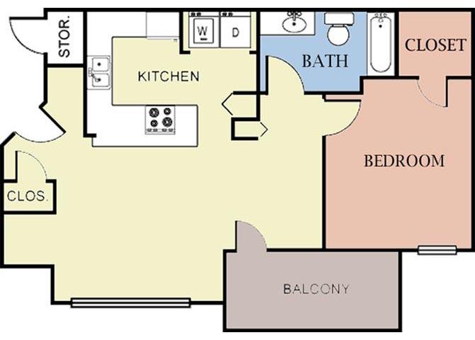 1 Bedroom 1 Bathroom Apartment for rent at Cambury Hills Apartments in Omaha, NE