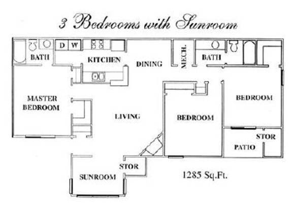 3 Bedrooms 2 Bathrooms Apartment for rent at Shannon Lake Apartments in Union City, GA