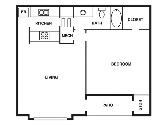 1 Bedroom 1 Bathroom Apartment for rent at The Park At Hairston in Stone Mountain, GA