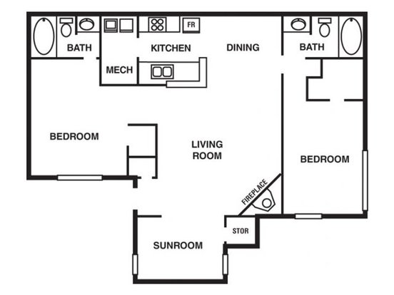 2 Bedrooms 2 Bathrooms Apartment for rent at The Park At Hairston in Stone Mountain, GA