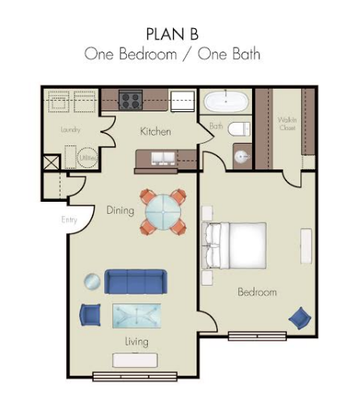 1 Bedroom 1 Bathroom Apartment for rent at Quality Hill Square in Kansas City, MO