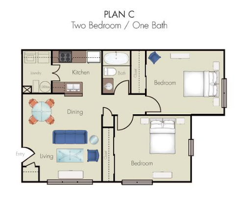 2 Bedrooms 1 Bathroom Apartment for rent at Quality Hill Square in Kansas City, MO