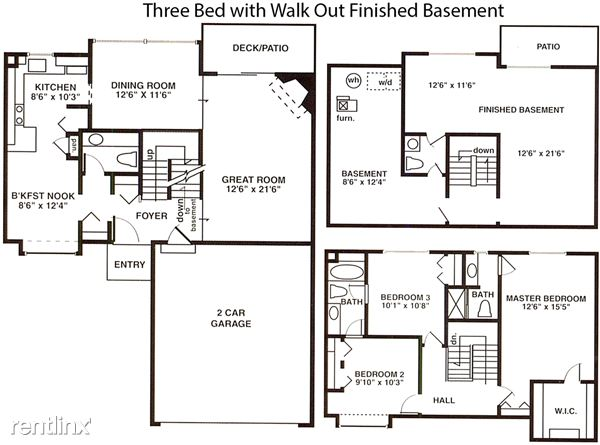 3 Bedrooms 3 Bathrooms House for rent at Weatherstone Townhomes in Southfield, MI