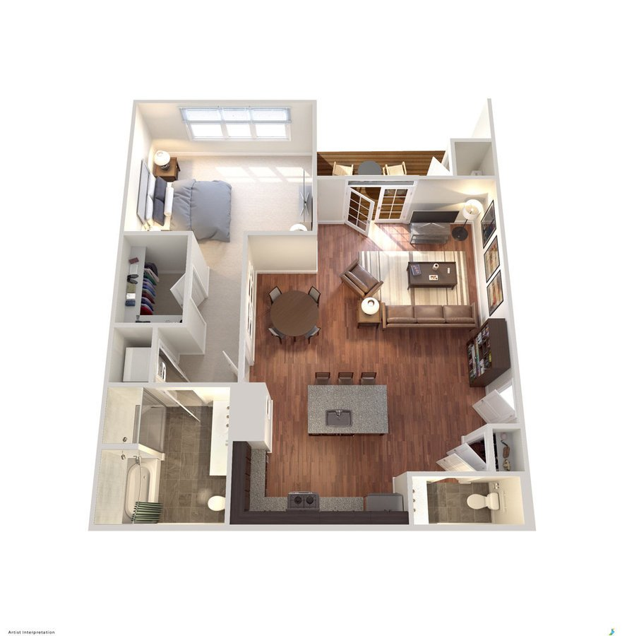 1 Bedroom 1 Bathroom Apartment for rent at Avanti Luxury Apartments in Bel Air, MD