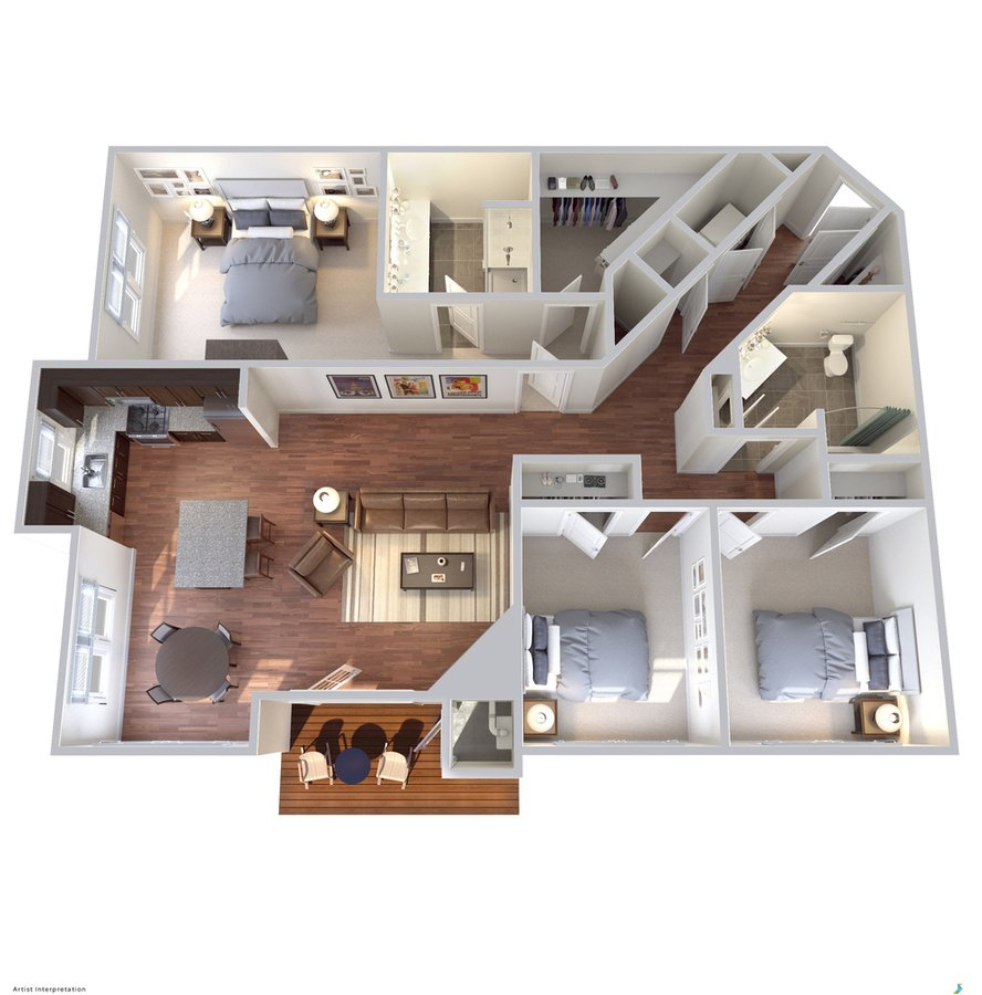 3 Bedrooms 2 Bathrooms Apartment for rent at Avanti Luxury Apartments in Bel Air, MD