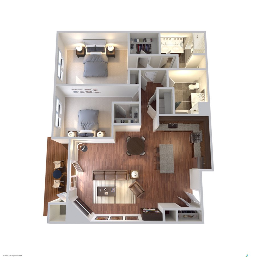 2 Bedrooms 2 Bathrooms Apartment for rent at Avanti Luxury Apartments in Bel Air, MD