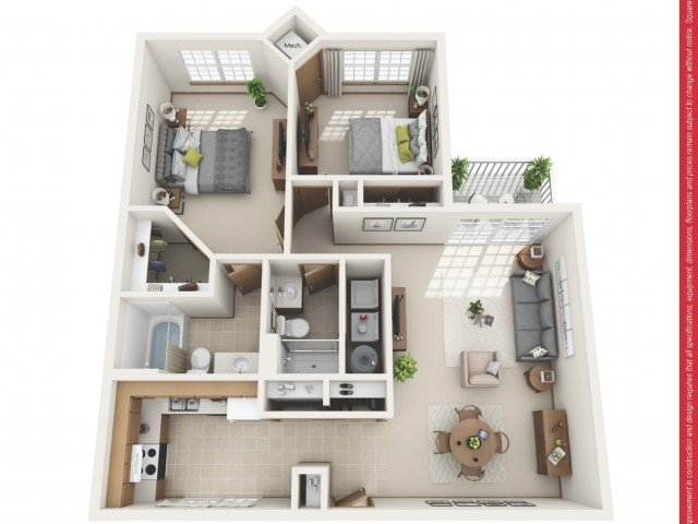 2 Bedrooms 2 Bathrooms Apartment for rent at Ravinia Apartments in Greenfield, WI