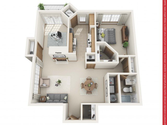 1 Bedroom 1 Bathroom Apartment for rent at Ravinia Apartments in Greenfield, WI