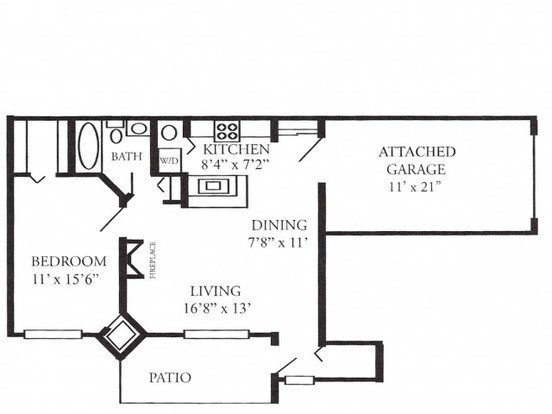 1 Bedroom 1 Bathroom Apartment for rent at Plum Tree Apartments in Hales Corners, WI