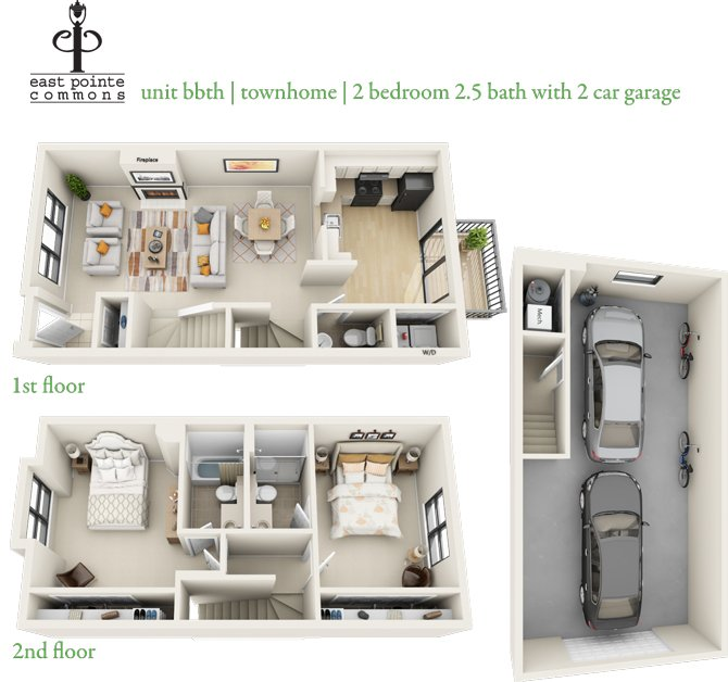 2 Bedrooms 2 Bathrooms Apartment for rent at East Pointe Commons in Milwaukee, WI