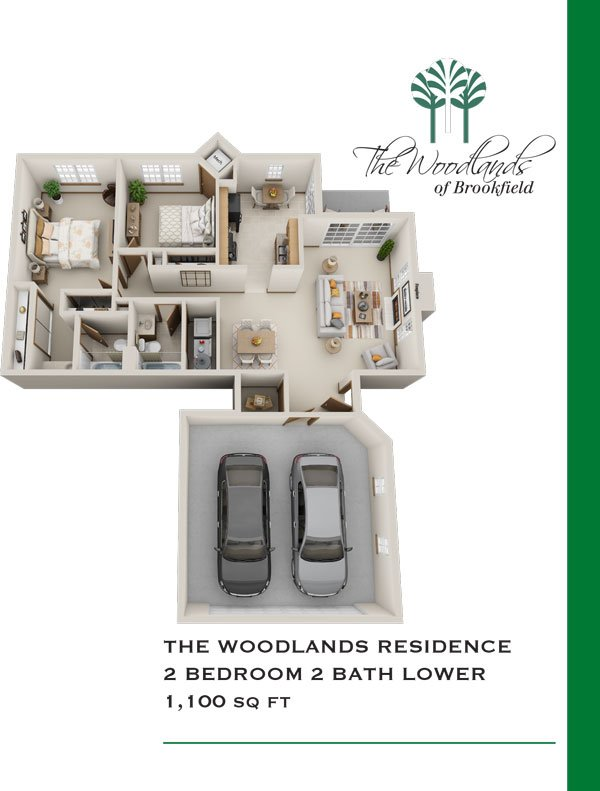 2 Bedrooms 2 Bathrooms Apartment for rent at Woodlands Of Brookfield in Brookfield, WI