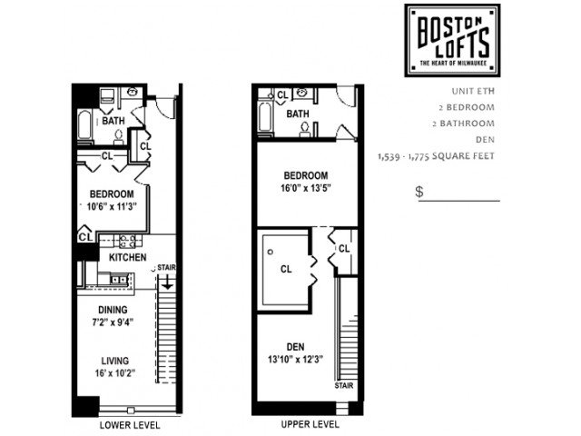 2 Bedrooms 2 Bathrooms Apartment for rent at Boston Lofts Apartments in Milwaukee, WI