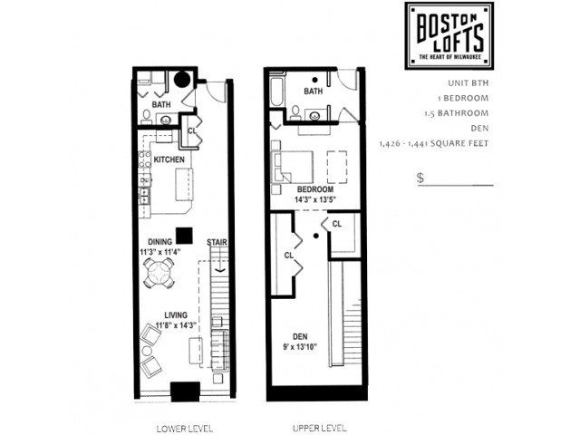 1 Bedroom 1 Bathroom Apartment for rent at Boston Lofts Apartments in Milwaukee, WI