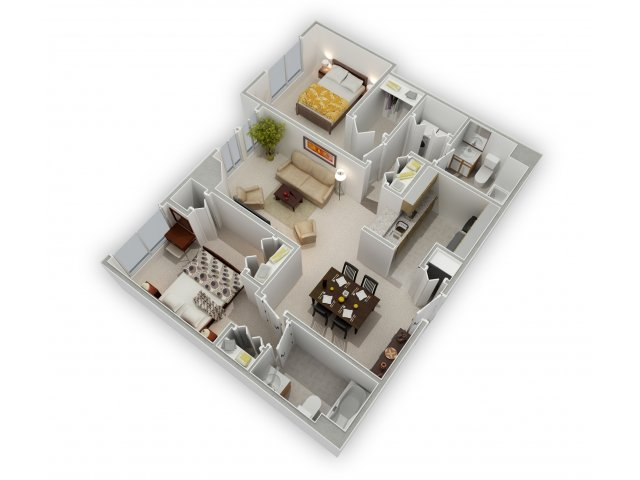 2 Bedrooms 2 Bathrooms Apartment for rent at Mill City Apartments in Minneapolis, MN