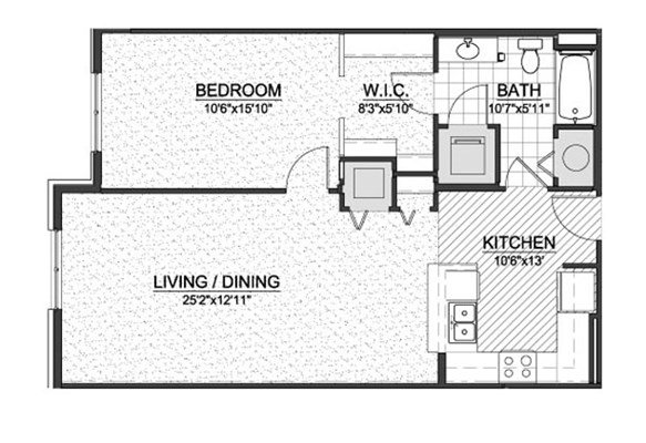 1 Bedroom 1 Bathroom Apartment for rent at Bayshore Place in Glendale, WI